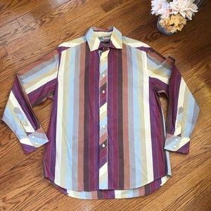 Robert Graham Multicolored Striped Button Down